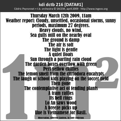 Cédric Peyronnet (+ toy.bizarre orchestra) – kdi dctb 216 [DATA#1]